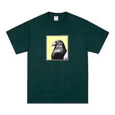 NWT Noah NY Men's Dark Green Sound of Silence Bird Photo Print T-Shirt AUTHENTIC