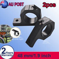 """2X 48mm 1.9"""" Bull Bar Roll Cage Mount Brackets Tube Clamps LED Light Bar Offroad"""
