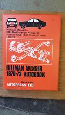 Hillman Avenger 1250,1500, GT, Sunbeam, 1970-73,  Autobook Workshop manual
