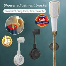 1*Universal Wall-Mounted Shower Head Holder Bracket Adjustable Holder Bathroom