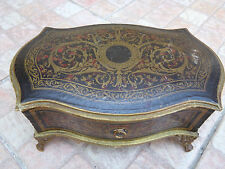 ,Boite Coffret en Carton Bouilli Second Empire Box Imitation Marqueterie Boulle