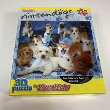 Nintendo Nintendogs Puzzle Lenticular 3D Visual Echo 100 Piece + Collectors Card