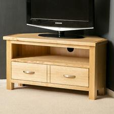 London Oak Corner TV Stand / Plasma TV Cabinet / Solid Wood TV Unit / Light Oak