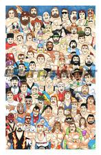 """WWF/WWE LJN Wrestling Superstars 11""""x17"""" 1/35 Limited Art Print Artist Signed"""