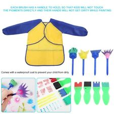 Kids Painting Supplies Toy Drawing Sponge Brush Palette DIY Craft Tool Set