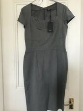 Grey Fitted Dress With Pleated Detail. Oasis Size 14. New With Tags.