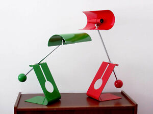 1960s PAIR OF COUNTERWEIGHT TABLE LAMP VINTAGE ITALY DESIGN DESK LIGHT STILNOVO