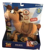 "NEW Toy Story Disney Pixar BULLSEYE 16"" Plush Horse Interactive w/ Sound effects"