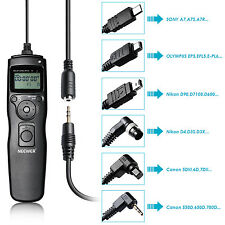 Neewer LCD Timer Shutter Release Remote for Canon,Nikon,Olympus,Sony Cameras