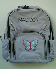 Pottery Barn Kids Small Fairfax Lavender Backpack Butterfly Patch name MADISON