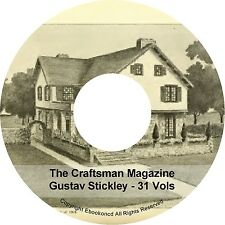 The Craftsman Magazine Gustav Stickley 31-VOLs Crafts Home Furniture Books DVD