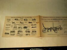 Prospectus Charrue BONEHILL Lieusaint brochure Tracteur Traktor prospekt