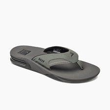 Reef Men's Fanning Bottle Opener Flip Flops - Grey/Black NWT