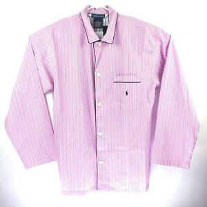 Polo Ralph Lauren Medium Men's Sleep Tops 100% Cotton P858 Pink Striped NEW