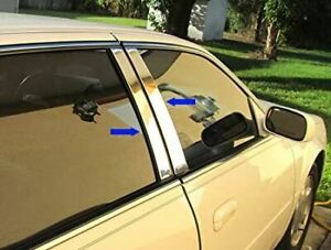 2006-2011 Cadillac DTS 4Pc Chrome Pillar Post Stainless Steel Trim Door