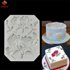 Rose Flower Silicone Fondant Mold Cake Decor Chocolate Sugarcraft Baking Mould