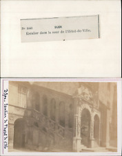 France Dijon Escaliers Htel De Ville Vintage CDV Albumen Carte Visite