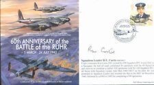 MF5c RAF Cover signed WWII WW2 RAF DH Mosquito cover signed CURTIS DSO DFC *