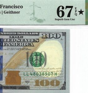 2009A $100 SAN FRANCISCO FRN, PMG SUPERB GEM UNCIRCULATED 67 EPQ ⭐️ DISIGNATION