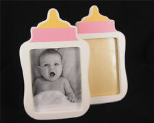 """New baby pink girl personalised wooden photo frame set 3""""x4"""" Party Decorations"""