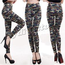 Neu Bedruckt Damen Lange Leggings Jeggings Stretch Freizeithose Größe 8-22