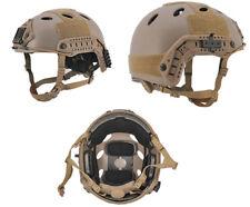 Lancer Tactical PJ Type Airsoft MilSim ATH Helmet in Tan Lrg/XL CA-725T