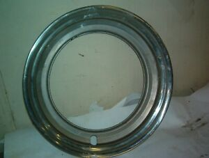 "ONE  OEM GM ? FORD? STAINLESS STEEL 15"" TRIM RING 2 5/8"" DEEP  11 5/8"" ID"