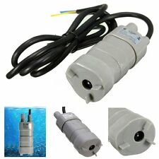 12V 5M Pumping Head Mini Submersible Motor Home Garden Fountain Brush Water Pump