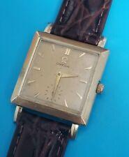 Vintage Omega 1955 Tank Square Case 14k GF 28mm Mens manual Watch Works N6269