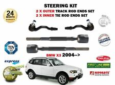 FOR BMW X3 E83 2004->NEW 2 x OUTER 2 x INNER STEERING TRACK RACK TIE ROD ENDS