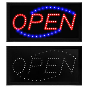 """Bright Animated LED Neon Business Sign Light Open Store Bar Shop 19x10"""" Display"""