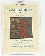HH286-REGGIO CALABRIA GRANDIOSO PRESEPIO ARTISTICO 1932/33