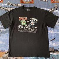Men's Large Black Minnesota Wild Vs Winnipeg Jets Rivalry 2012 T-Shirt