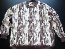WILD! Coogi Australia Sweater Tan/Brown XXL 100% Cotton Biggie Notorious B.I.G.