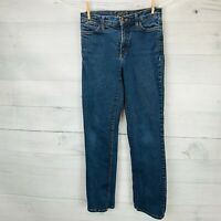 NYDJ Womens MARILYN Straight High Rise Stretch Slimming Blue Denim Jeans Size 6P