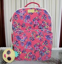 Luv Betsey Johnson Quilted Floral Flowers Backpack Travel School Bag Pink NWT