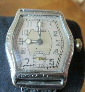 1928-29 ILLINOIS wristwatch 17J special model H serviced runs beautiful 14K GF