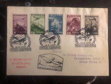 1937 Vienna Austria Military Airmail Special Post Flight Cover To Klagenfurt