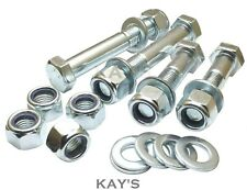M8 BOLTS WITH NYLOC NUTS & WASHERS 8.8 HIGH TENSILE PART THREADED ZINC PLATED