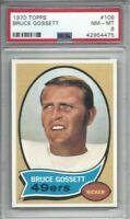 1970 Topps football card #109 Bruce Gossett San Francisco 49ers graded PSA 8