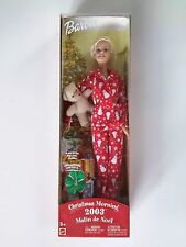 CHRISTMAS MORNING BARBIE 2003 Barbie with Snowman PJs Teddy + SURPRISE for you!