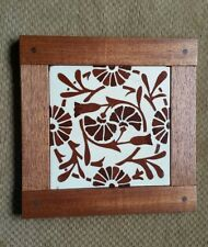 Dovecote Woodworking Antique arts & crafts  tile  Mahogany frame brown white
