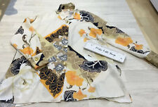 River Island Sz 12 Vintage Print Oversized Tunic Blouse Top Gold Buttons Collar