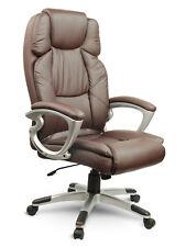 Bürostuhl Chefsessel Drehstuhl Schreibtischstuhl Kunstleder Braun Eago EG-227