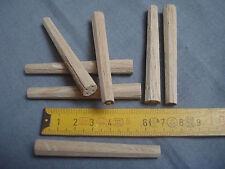 20 chevilles bois chêne 8 mm octogonales calibrées meuble fauteuil