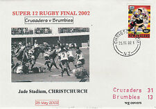 NEW ZEALAND 25.5.02 RUGBY COMM COVER - Crusaders v ACT Brumbies Super 12 Final