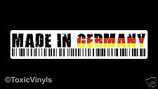 MADE IN GERMANY CAR sticker decal vw dub euro stance rat look sticker decal
