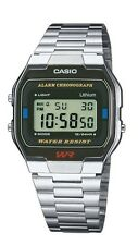 Casio A163WA-1QES Collection Classic Digital Silver Steel Chronograph Watch £30