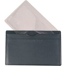 2X Card Magnifier in a Vinyl Case Pocket Magnifier, Credit Card Size, Low Vision