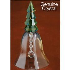 Large Crystal Christmas Tree Bell Figurine gift Deluxe 6-1/2 high New In Box